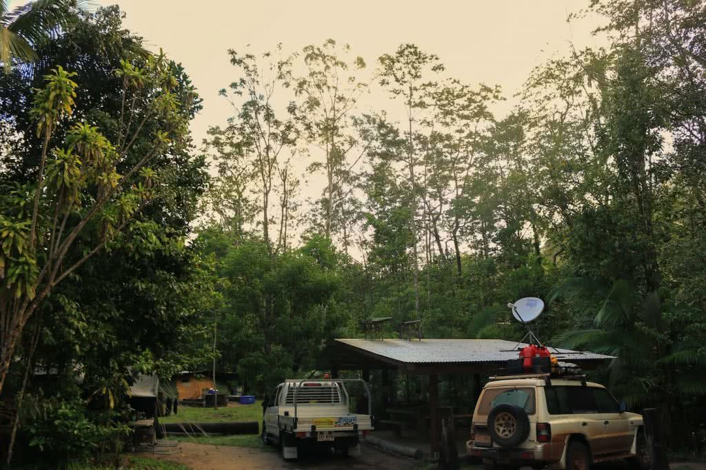 Straight Outta The Seventies // Finch Hatton Gorge (QLD), Jacquie Tapsall, campground, cars, shelter, trees