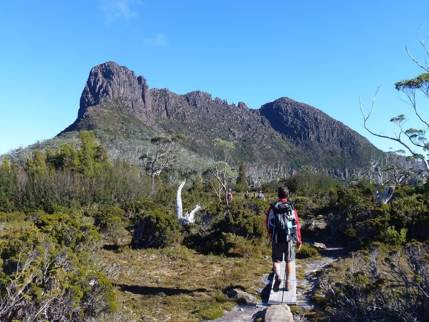 Highlights Of The Overland Track (VIC) By Emily Barlow, Photo Sarah Barlow, track, mountain, distance, hiker