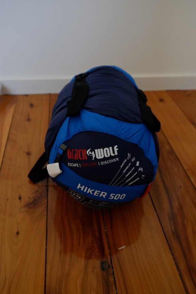 Blackwolf Hiker 500 Sleeping Bag // Gear Review, Caleb Hindley, packed, stuff sack, product