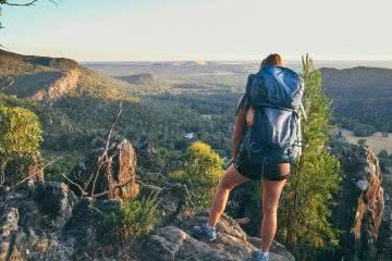 ruby bisson, get fitted for a hiking backpack, photo by Rhianna, mr timbuktu,