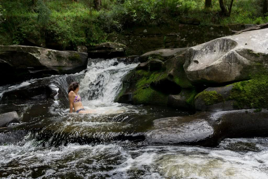 Wet Feet And Waterfalls // Cumberland River Trail (VIC), Isobel Campbell, Jebbs Pools, , swimming, flow, water, rocks, woman