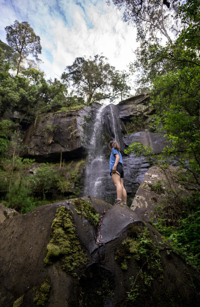 Wet Feet And Waterfalls // Cumberland River Trail (VIC), Isobel Campbell, Upper Kalimna Falls, rock, looking