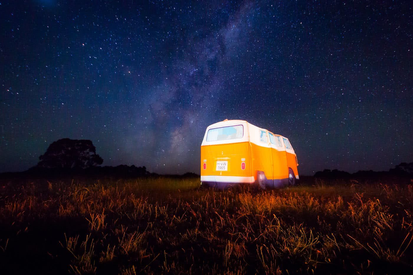 Rob Embury, Kombi Tent review, lit up
