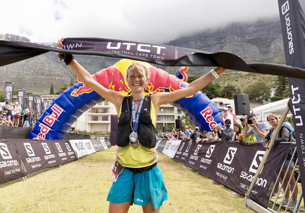 Meet Lucy Bartholomew // A Plant-Based Ultramarathon Champ, Tim Ashelford, Womens100km_winnerLucyBartholomew_photoNickMuzik, winner, race, medal, finish line