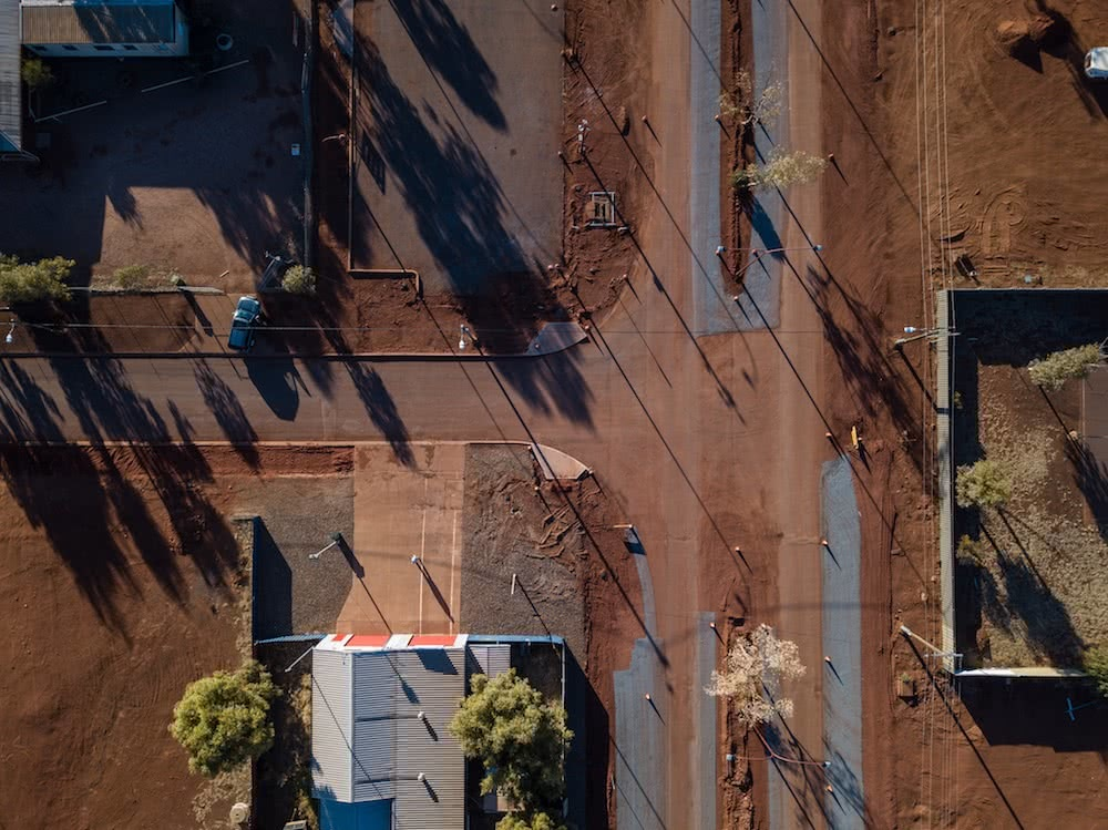 laverton, from above, drone, outback way, road trip, red centre, story