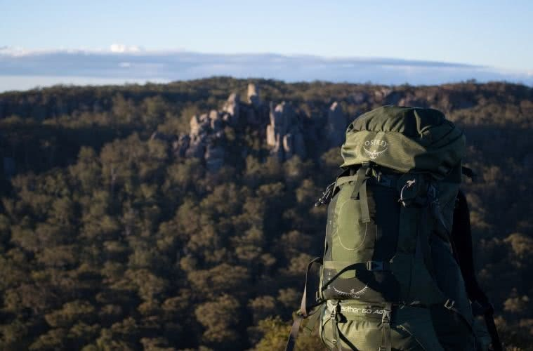 Dan Parkes, bushies untamed, osprey aether 60 ag, gear review, main range national park, new england highlands, backpack, queensland