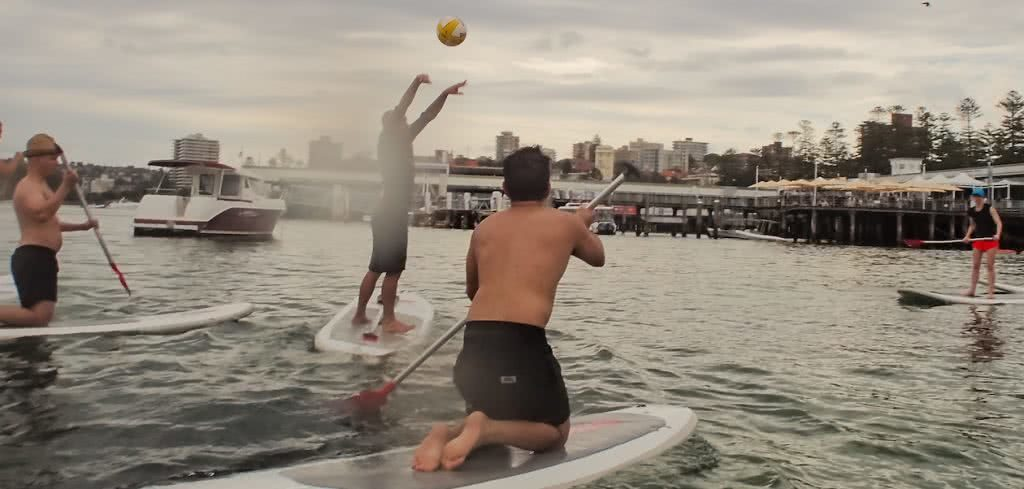 SUPBall // The Hybrid Sport For People Who Love Water (And Balls), Rebecca Burton, catch, paddle, harbour, boat, wharf