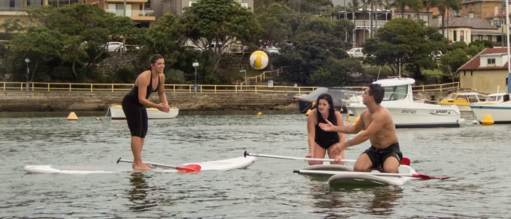 SUPBall // The Hybrid Sport For People Who Love Water (And Balls), Rebecca Burton, ball, throwing, catching, water, floating, boat