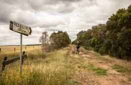 French Island // Melbourne's Wilder Island Adventure, Chris Paola, sign, trash, bike, field, trees