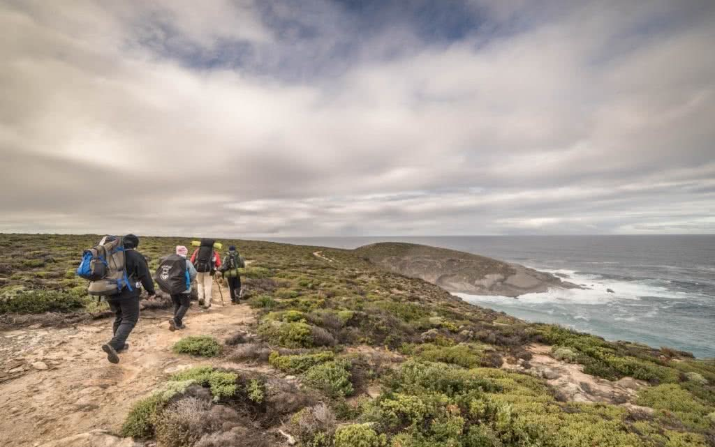 How Not To Hike (I Learned The Hard Way), Saphira Schroers, walk in a pack, together, team, crew, hikers, clouds, coast path, ocean view