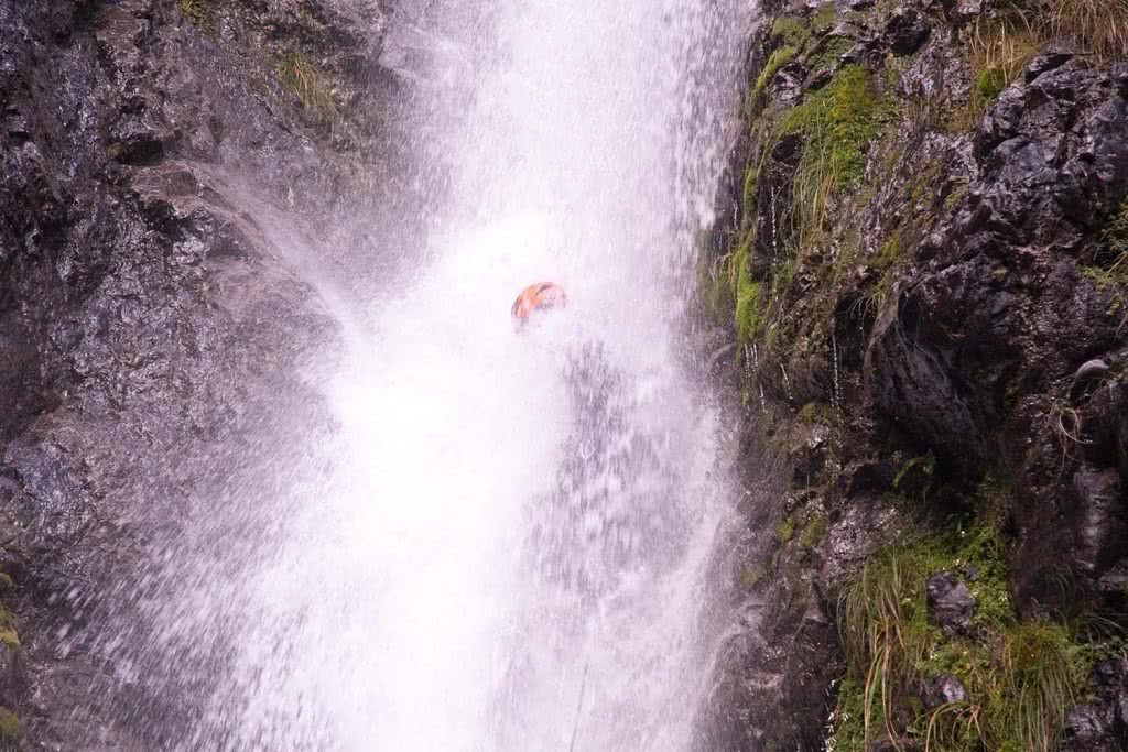 Ode To The River // Canyoning And Packrafting In New Zealand, Xavier Anderson,, waterfall, submerged, underwater, abseiling
