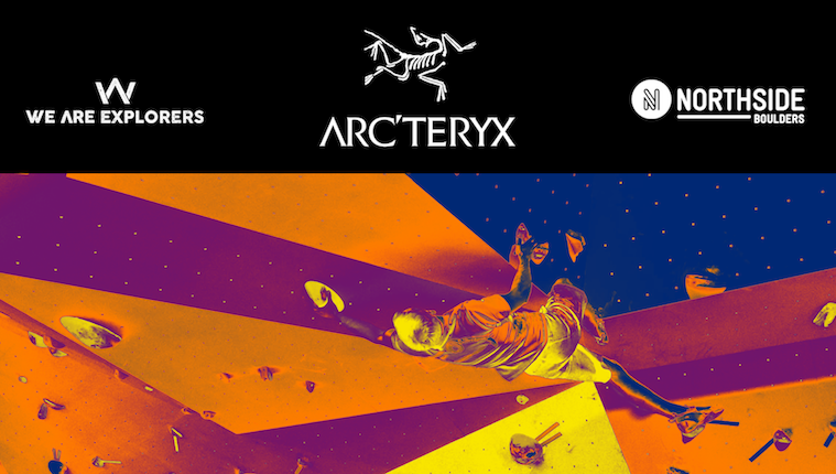 Arc'teryx WAE Bouldering night Event banner brand marketing