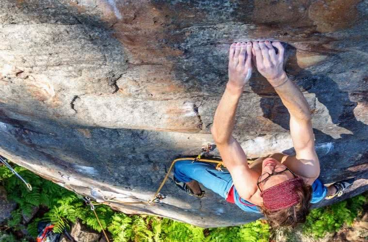 Michael Evans, crimpin', climber, mitch scanlan-bloor, fingers, tips, caring for your hands when rock climbing