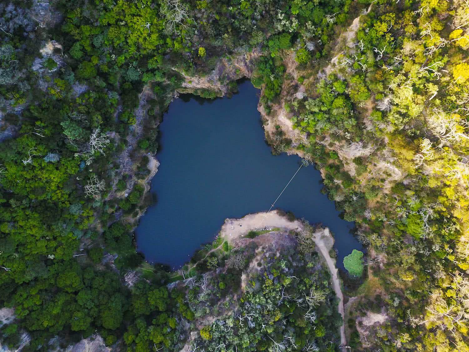 drone aerial, secret quarry, highline, osprey adventure grant