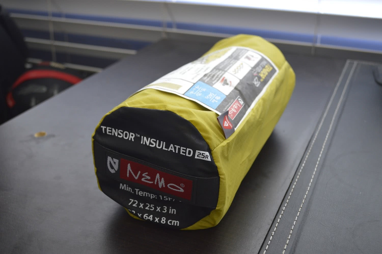 tim ashelford, nemo tensor 25r insulated review, sleeping, air pad, gear, packed