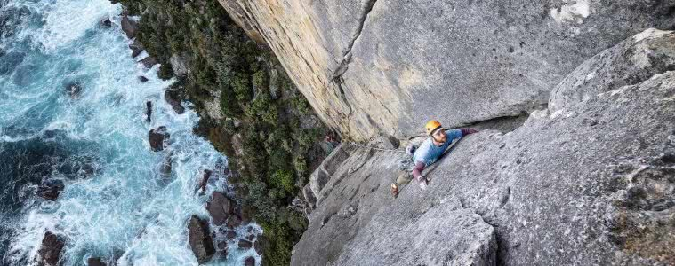 Jake anderson, Dan point perp, rock climbing, with helmet, beginner climbing gear, point perpendicular, shoalhaven, nsw