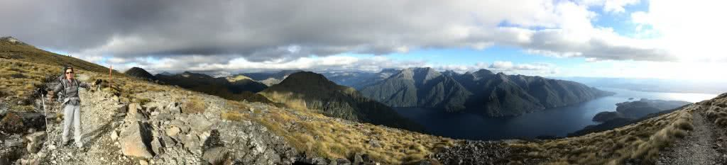 It's A Really Great Walk // Kepler Track (NZ), Nicholas Di Genni, panorama, mountains, Luxmore saddle, clouds