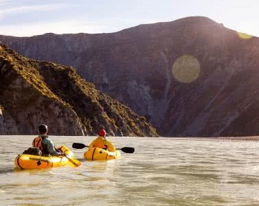 Ode To The River // Canyoning And Packrafting In New Zealand, Xavier Anderson, paddlers, water, bend, mountains