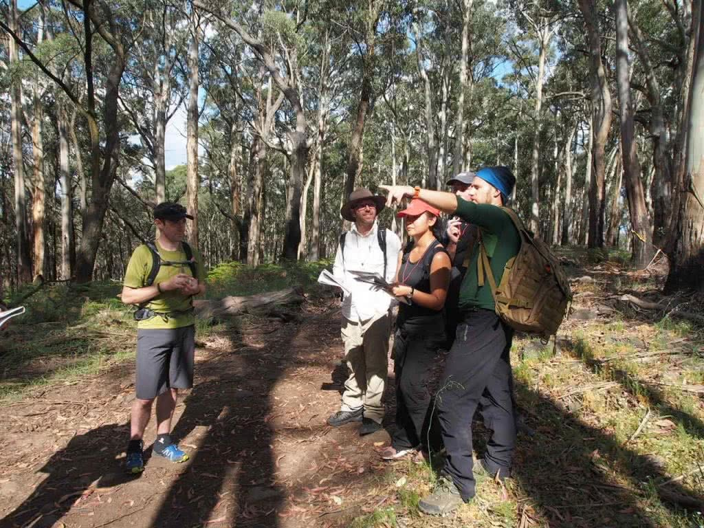 Getting Lost And Finding Fun // Melbourne Wilderness Navigation Course, ean Baulch, group, navigation, maps, pointing, which way