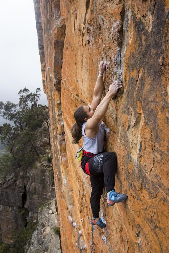 aron hailey, Reigning steel, unidentified climber, blue mountains, climbing, nsw