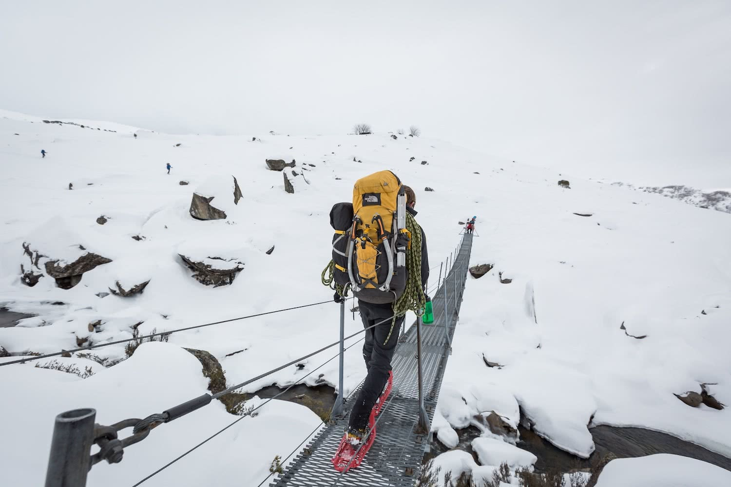nathan mcneil, ice climbing, blue lake, south rams head, snowshoeing, ice climbing, Kosciuszko national park, the north face