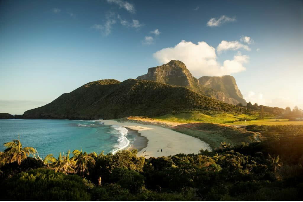 The Best Day Hike In Australia? // Mount Gower - Lord Howe Island, Scout Hinchliffe, peninsula, turquoise water, cloud, sky, ferns, peak, summit, hero