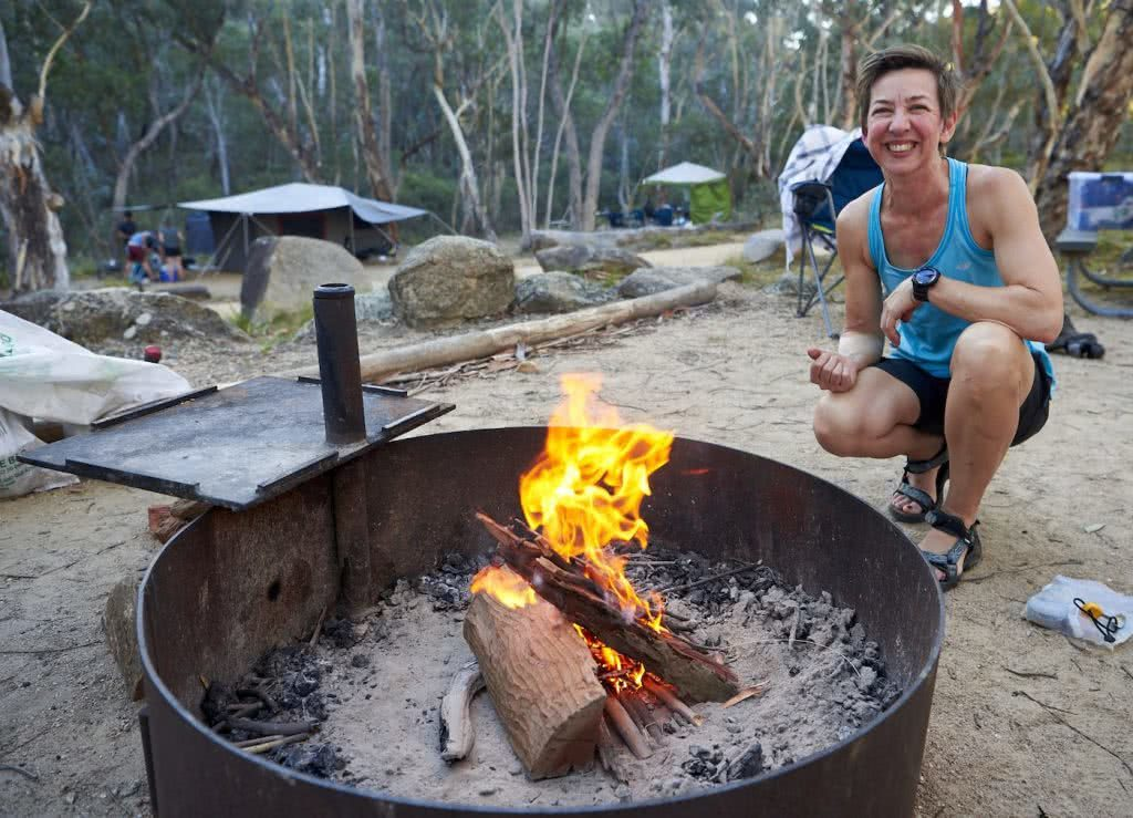 How To Make An Awesome Campfire Without Matches, Neil and Gabbi Massey, fire pit, happy camper, blaze, flame