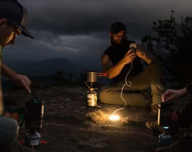 Our Favourite Outdoor Apps Header, Dan Parkes, Phone, lamp, cooking, stoves, cable, charging