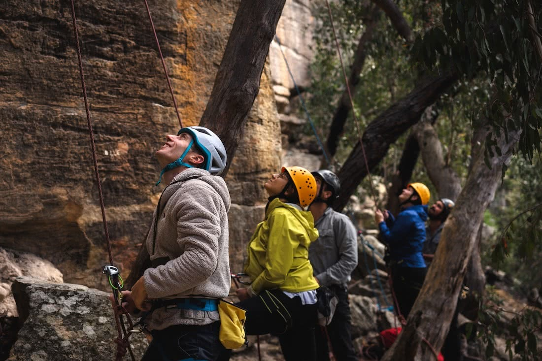 Jeremy Lam, 3 Climbing Tips From Our Weekend With The North Face Pros, ben cossey, lee cossey, blue mountains, mount york, nsw, rock climbing, wilderness escape, belay