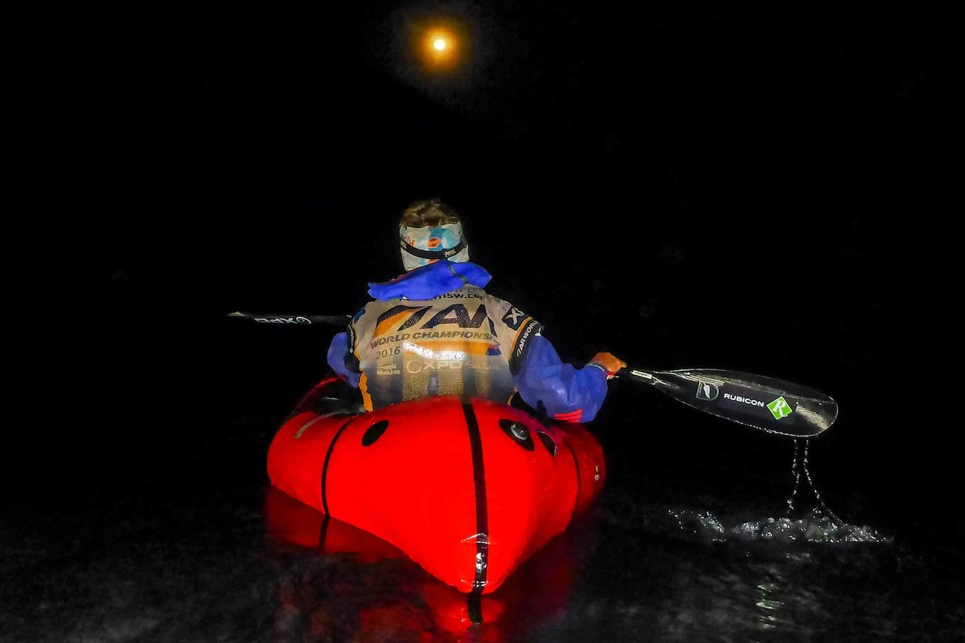 Adventure Racing 101 // How, What, Why...And Why Again? Emily Rowbotham, photo by David Barlow, night paddle, packraft,