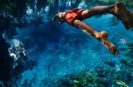 henry brydon, vanuatu, blue pool, dive, joel johnsson, swim, wild swimming, tropical, island