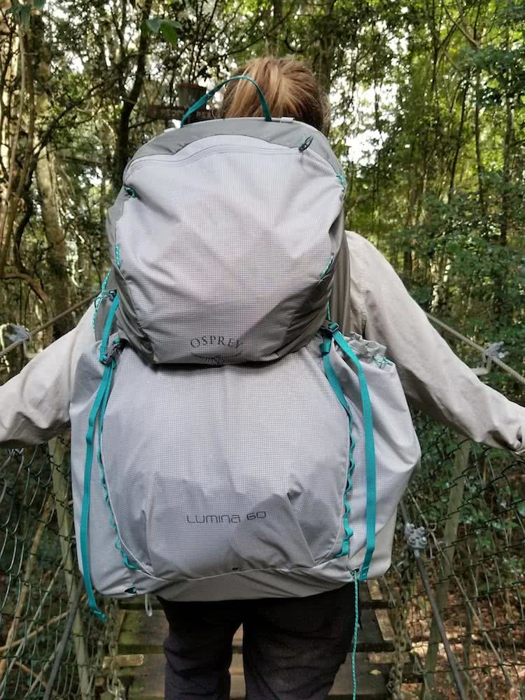 saphira schroers, osprey lumina 60, superultralight backpack, gear review, queensland, explorer, frumpy