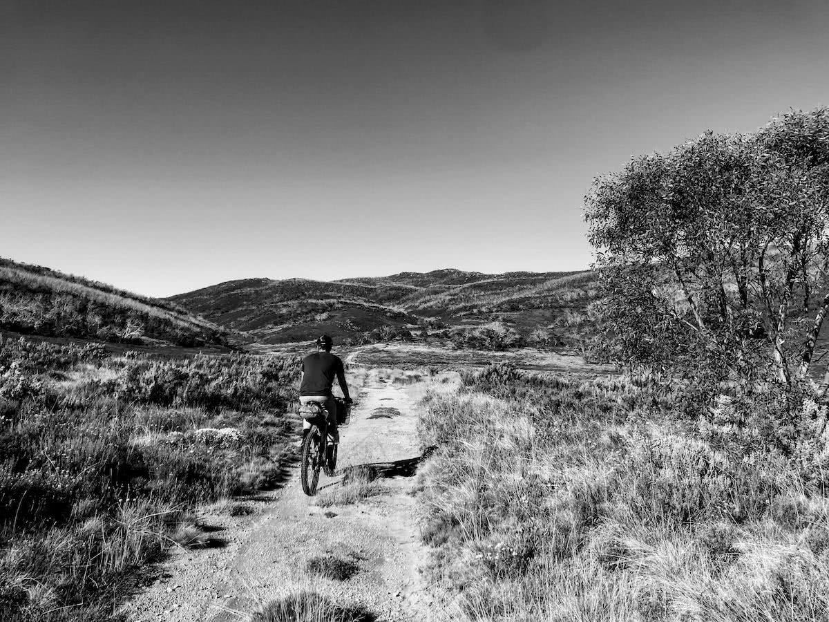 mattie gould, bikepacking, jagungal wilderness, nsw, black and white, photo essay