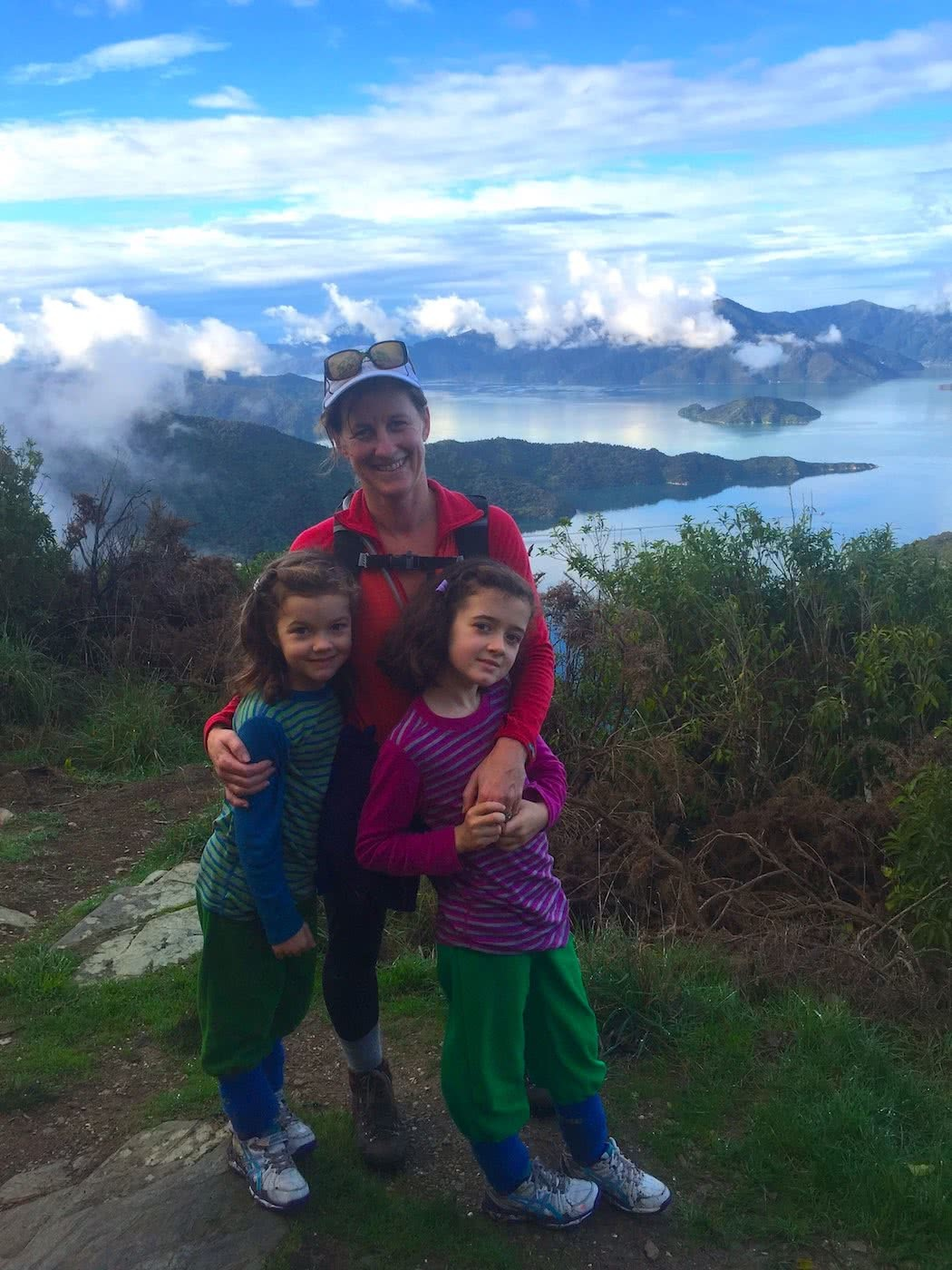 Training Kids Up For Multi-Day Hikes, Helen Cooper, mum, daughters, view, lake, children, hikers