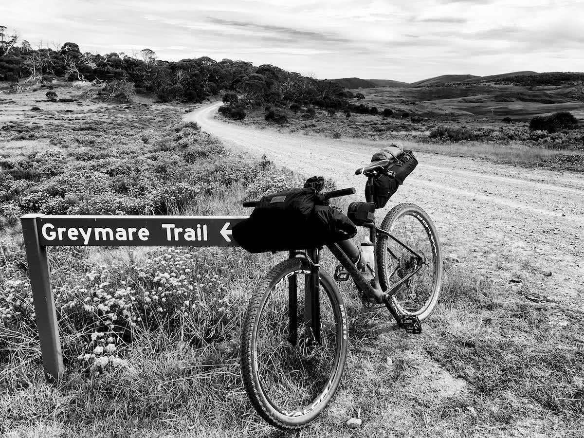 mattie gould, bikepacking, jagungal wilderness, nsw, black and white, photo essay, greymare trail