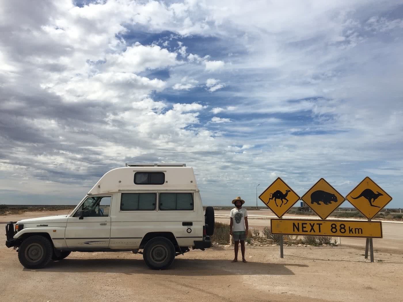 Troopy Travels // Chasing Sunsets From Byron Bay To The Ningaloo Reef, Alice Forrest, Nullarbor Road, SA, signs, van, Kangaroo, outback, camel, wombat, wildlife, road trip