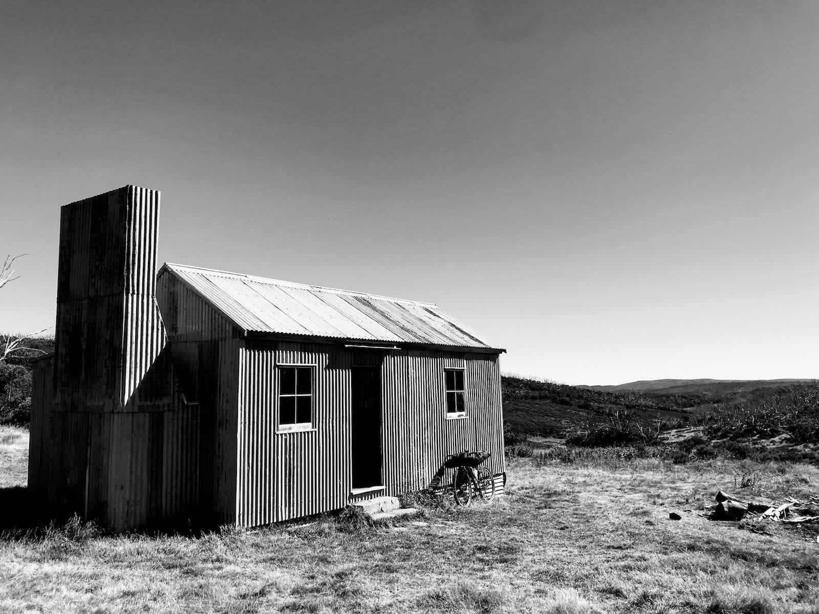 mattie gould, bikepacking, jagungal wilderness, nsw, black and white, photo essay, o'keefe's hut