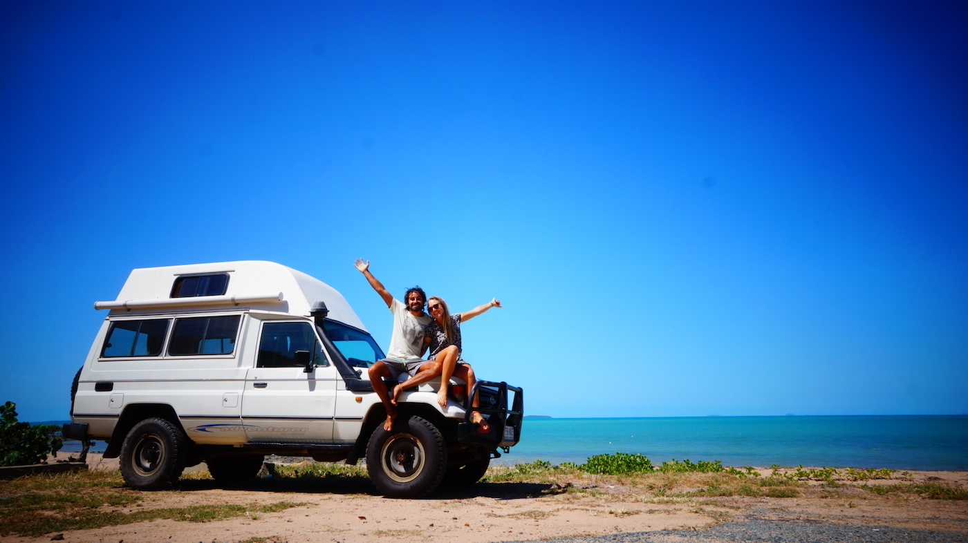 Troopy Travels // Chasing Sunsets From Byron Bay To The Ningaloo Reef, Alice Forrest, Somewhere South Of Cairns-QLD, couple, van life, beach, ocean, happy