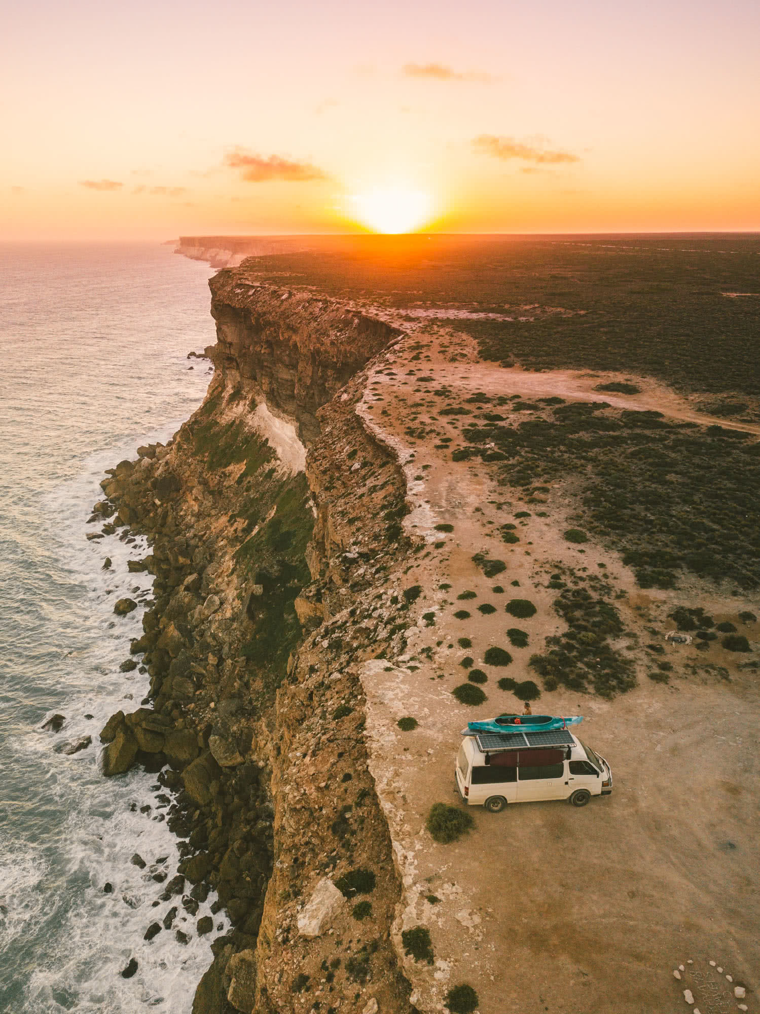 What We Learnt From 4 Years On The Road // Van Life Revisited, mitch cox, WA, cliff edge, sunrise, ocean