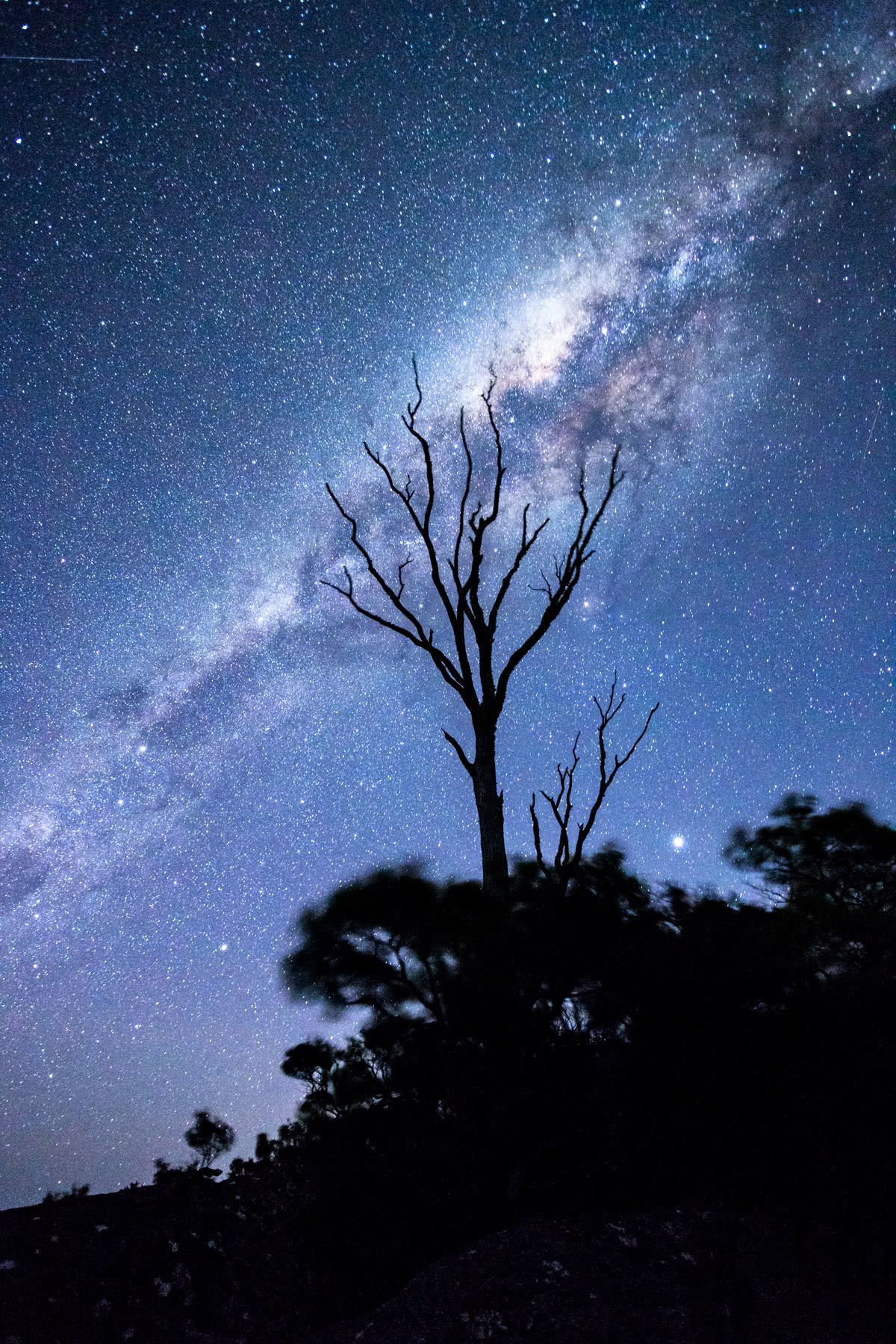 The Bare Beauty Of Bald Rock National Park (NSW) // Photo Essay, Liam Hardy, astrophotography, starts, silhouette, milky way