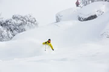 Thomas Waddell loving the new snow Aug 4, backcountry, ski, powder