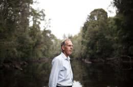 K Wright, tarkine, takayna, tasmania, world heritage protection, bob brown, portrait