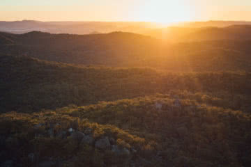 Wash Your Spirit Clean // The Cabin Series With Unyoked, Brent Frondall, Girraween National Park, unyoked cabin series, sunset