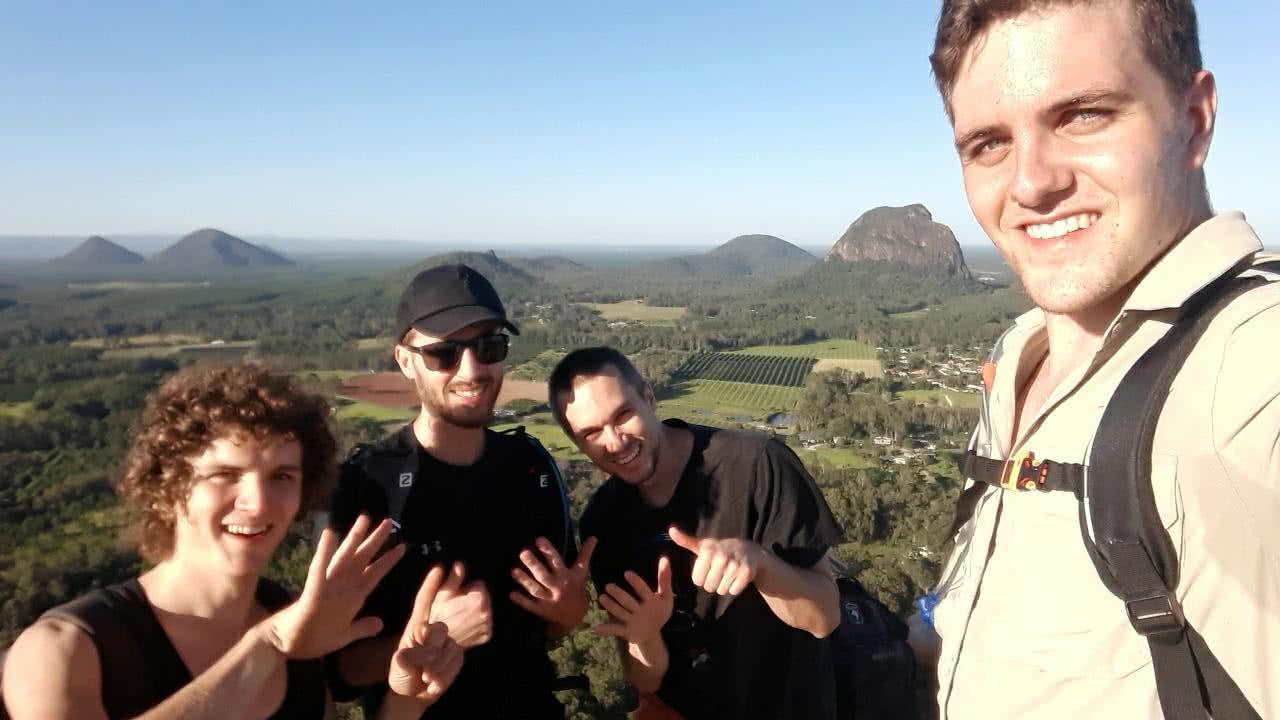 The 7 Peaks Challenge // Glass House Mountains, Benjamin Wiesner, South East Queensland, University of Queensland Mountain Club, climbing, sunrise, sunset, group shot