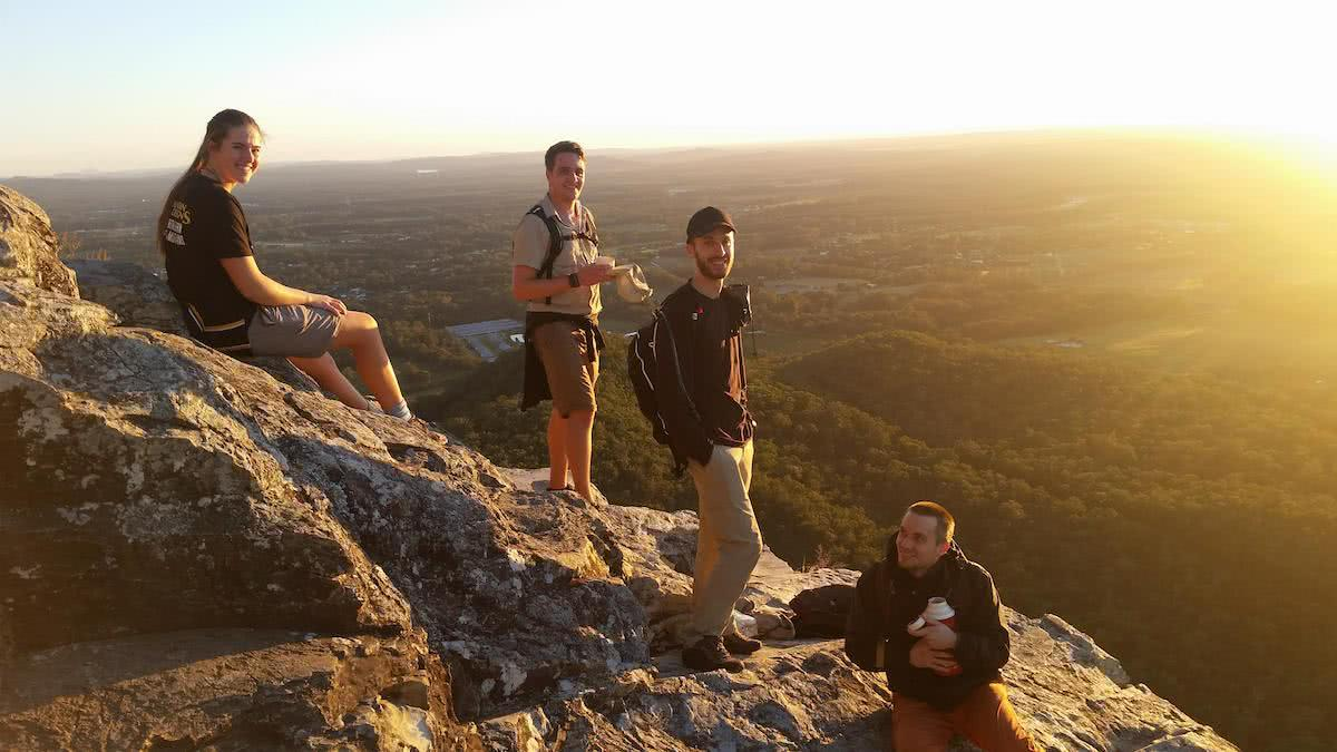 The 7 Peaks Challenge // Glass House Mountains, Chris Sneath, South East Queensland, University of Queensland Mountain Club, climbing, sunrise