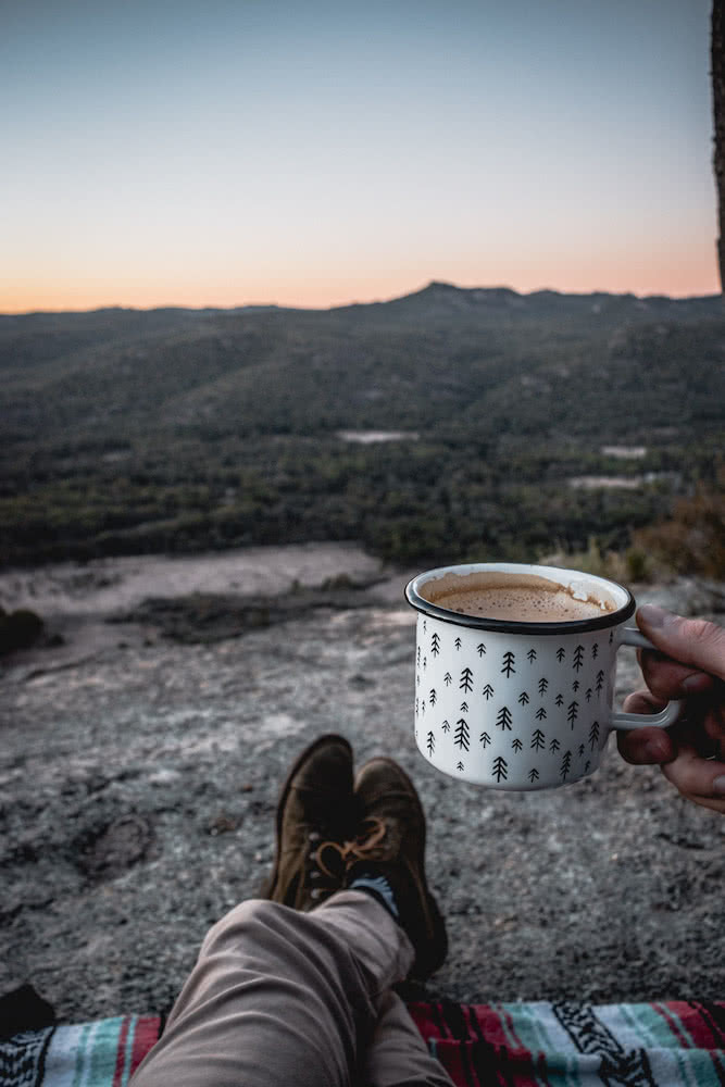 Wash Your Spirit Clean // The Cabin Series With Unyoked, Brent Frondall, Girraween National Park, unyoked cabin series, hot chocolate, mug, view