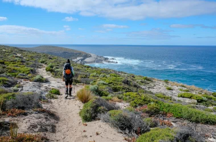 Brooke Nolan // Explorer Of The Month - September '18, Kangaroo Island Wilderness Trail Brooke Nolan, coast path, ocean, scrub, hiker