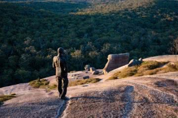 Liam Hardy, Vigilante Vinson Down Jacket // Gear Review, bald rock national park, Explorer, sunrise