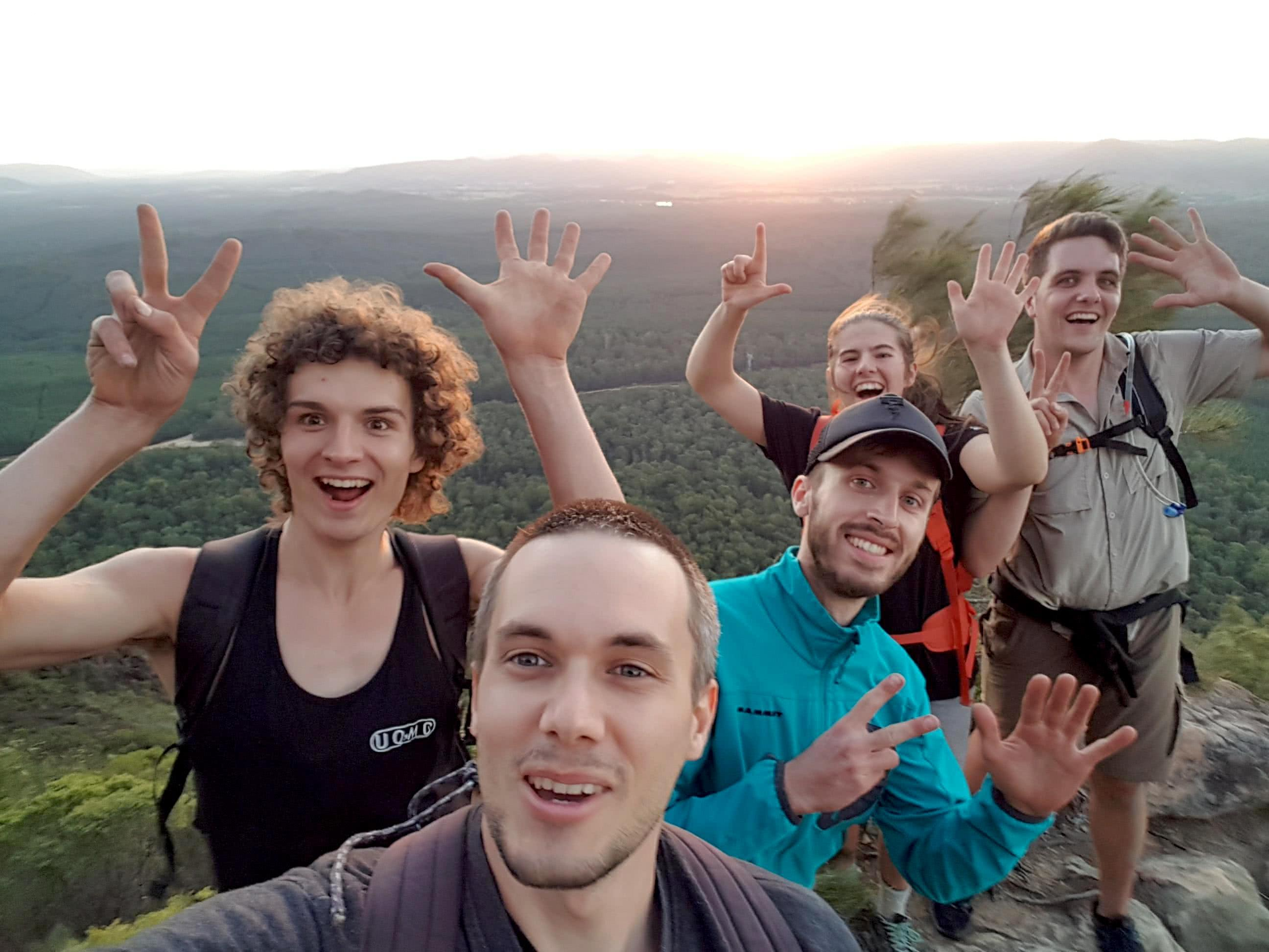 The 7 Peaks Challenge // Glass House Mountains, Nabari Yoite, South East Queensland, University of Queensland Mountain Club, climbing, sunset, cliff, 7 peaks! Sunset
