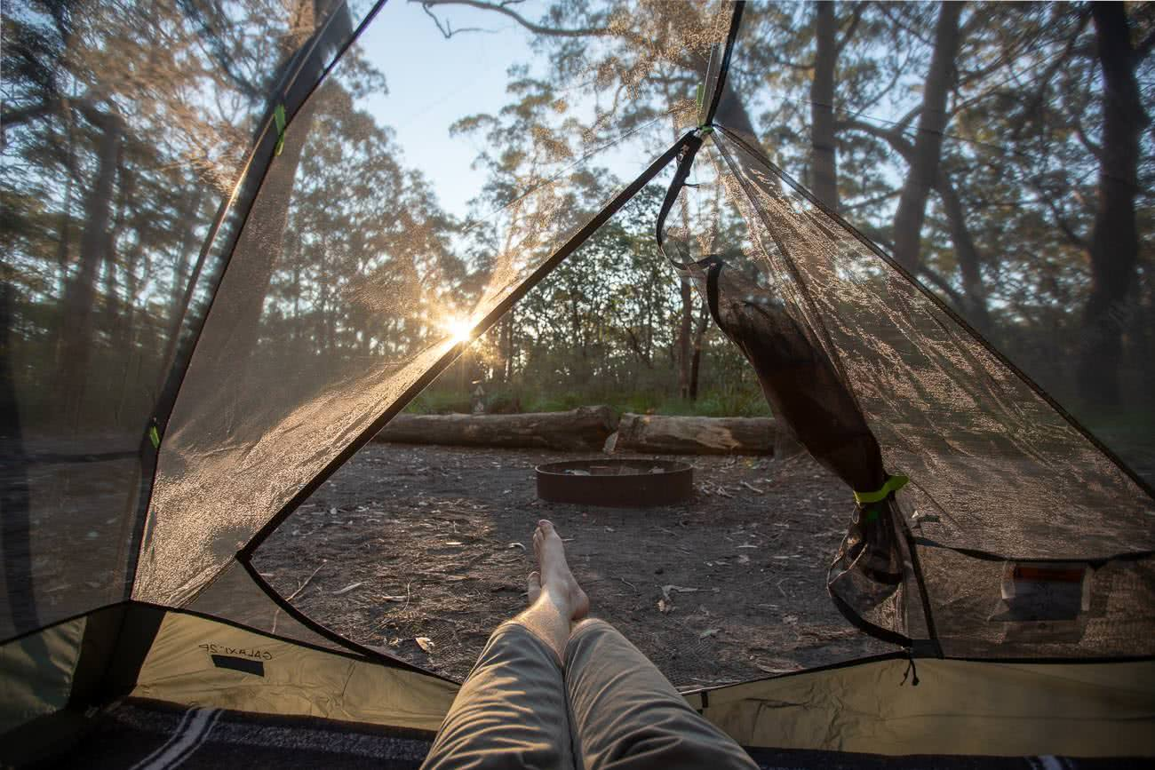 Sleeping Like A Star - NEMO Galaxi 2P // Gear Review, Jon harris, review by Mattie Gould, meroo head camp ground, nsw, feet out of tent
